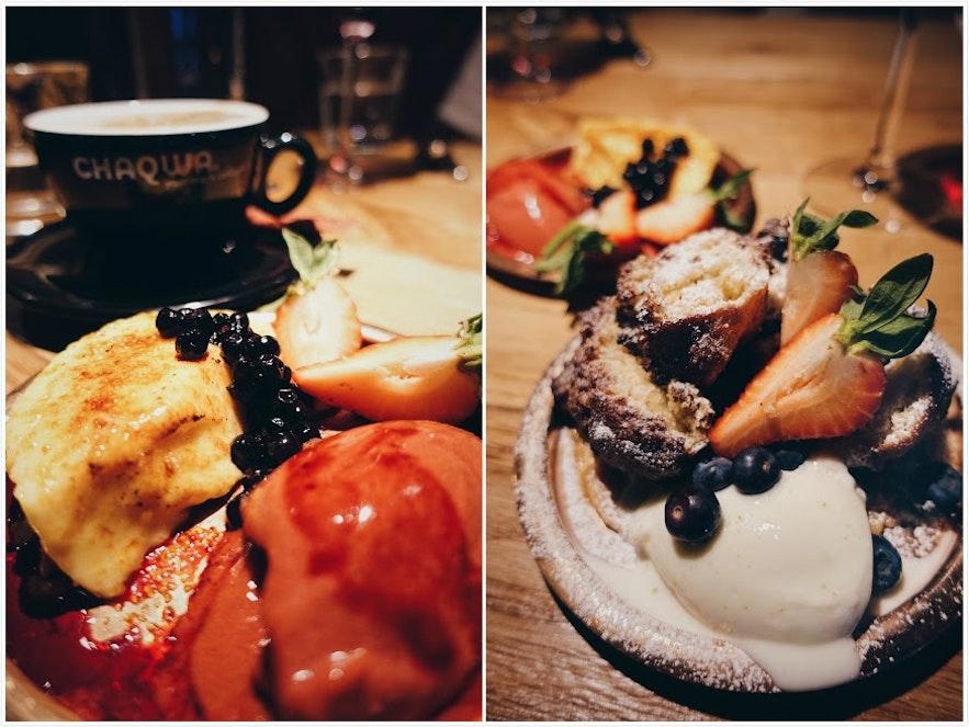 Delicious desserts at Matwerk in Reykjavík