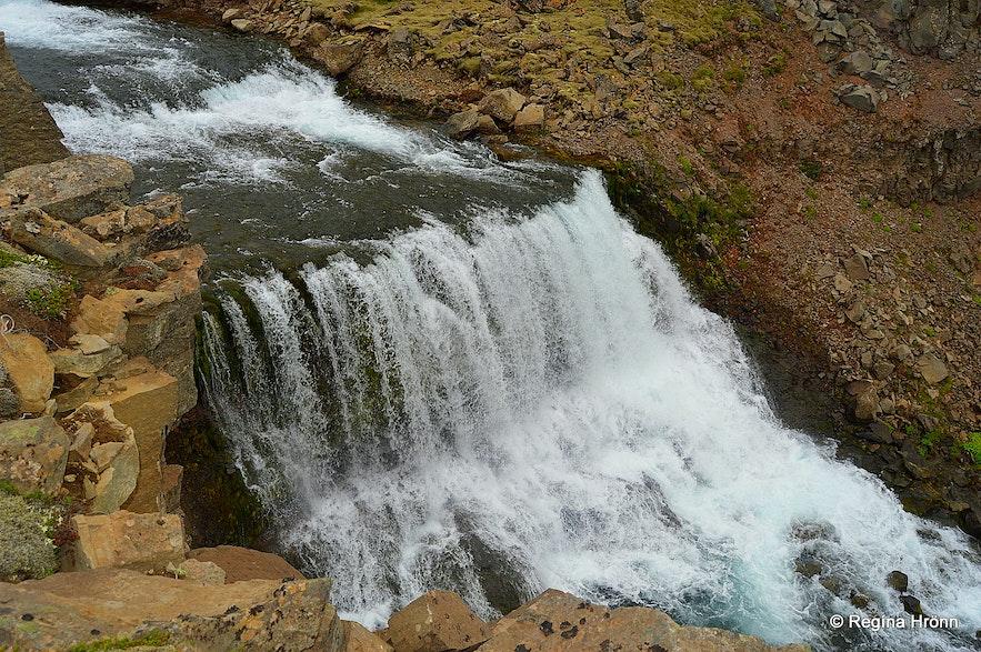 Dynjandisá river above Dynjandi waterfall