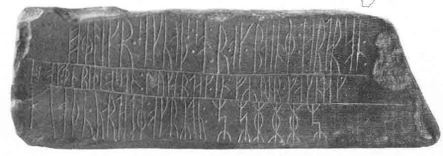 The Kingittorsuaq Runestone from Greenland.