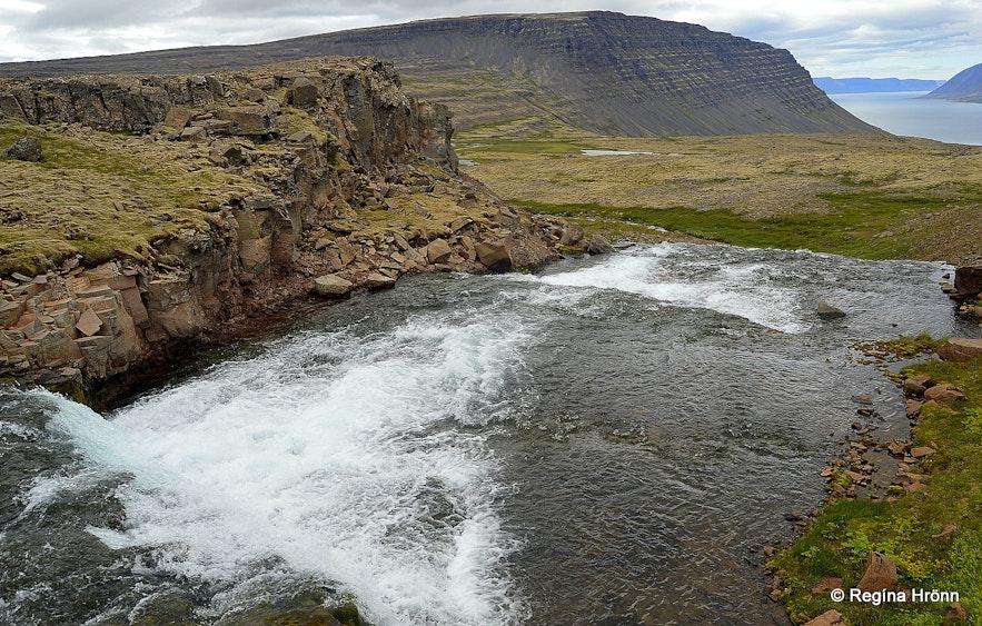 Dynjandisá river above Dynjandi waterfall Westfjords