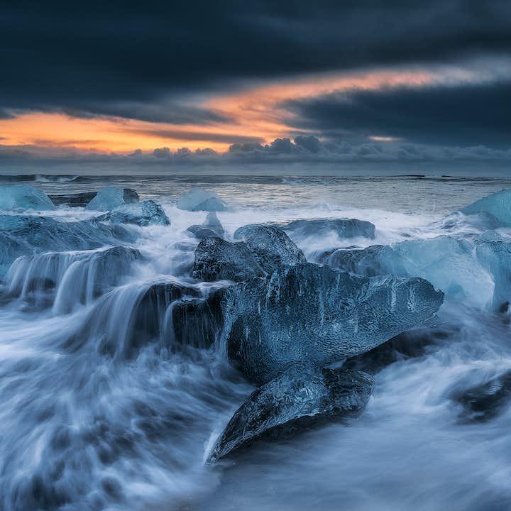 Wygodna 14-godzinna wycieczka z Reykjaviku do laguny lodowcowej Jokulsarlon wraz z rejsem łodzią