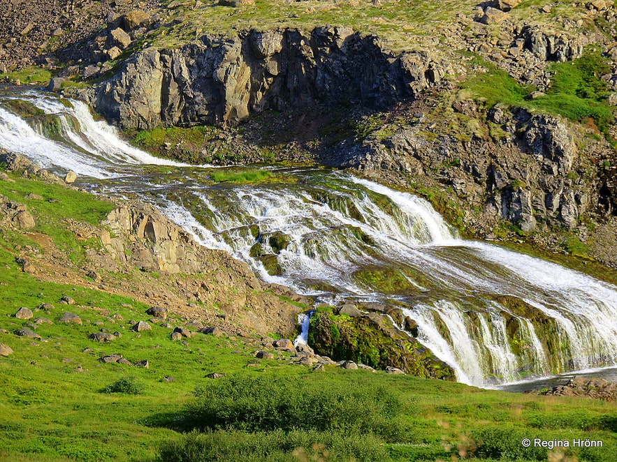 Gyrðisfoss waterfall in the Westfjords of Iceland
