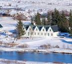 Þingvellir National Park during Iceland's winter season is especially scenic.