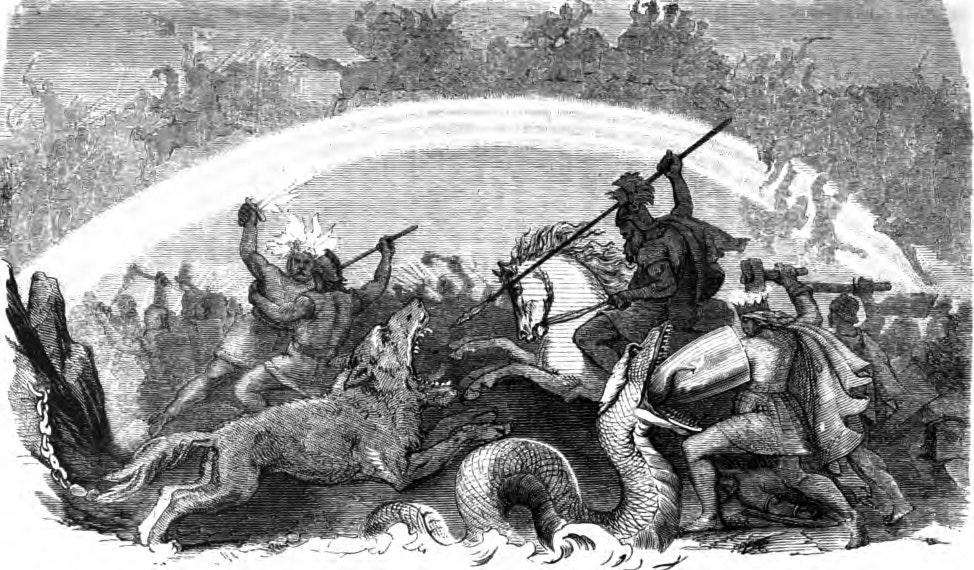 Battle of the Doomed Gods by Friedrich Wilhelm Heine