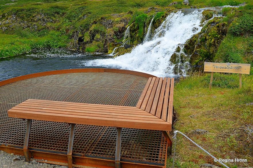 Hrísvaðsfoss waterfall by Dynjandi Westfjords of Iceland