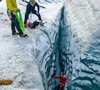 To ensure a safe ice climbing experience, your glacier guides monitor your progress at all times.