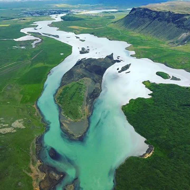 This Flightseeing Tour Over the Golden Circle and Glymur Waterfall gives you aerial views over Iceland.