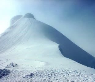 Flight over Snaefellsjokull Glacier from Reykjavik