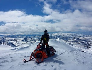 Conquer Eyjafjallajokull!   Highlands Snowmobiling Adventure Tour