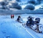 Snowmobile on Eyjafjallajokull