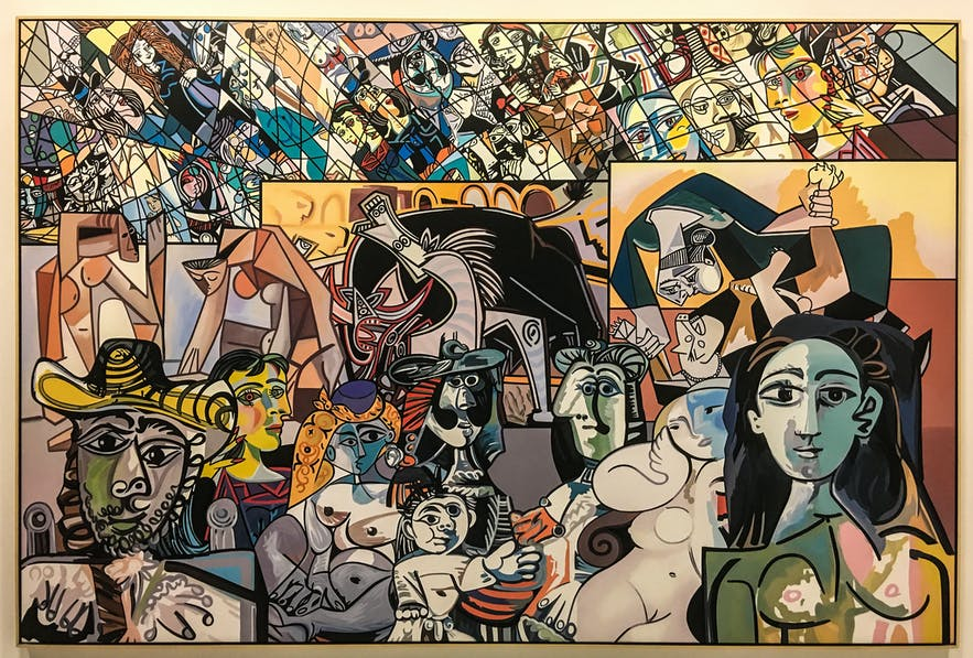 Picasso Melting Pot by Erró