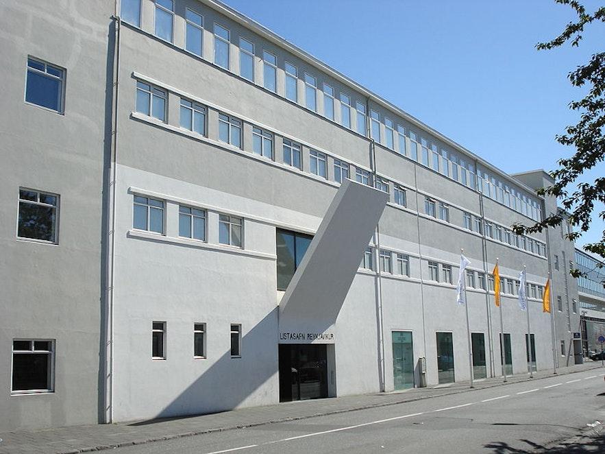 The front entrance to Reykjavik Art Museum.