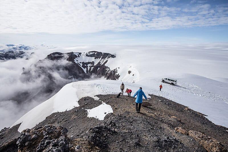 A crater on an outlet of Vatnajökull glacier.