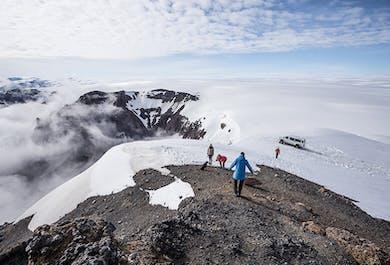 Super Jeep vers le glacier Skalafellsjokull - Guide francophone sur demande
