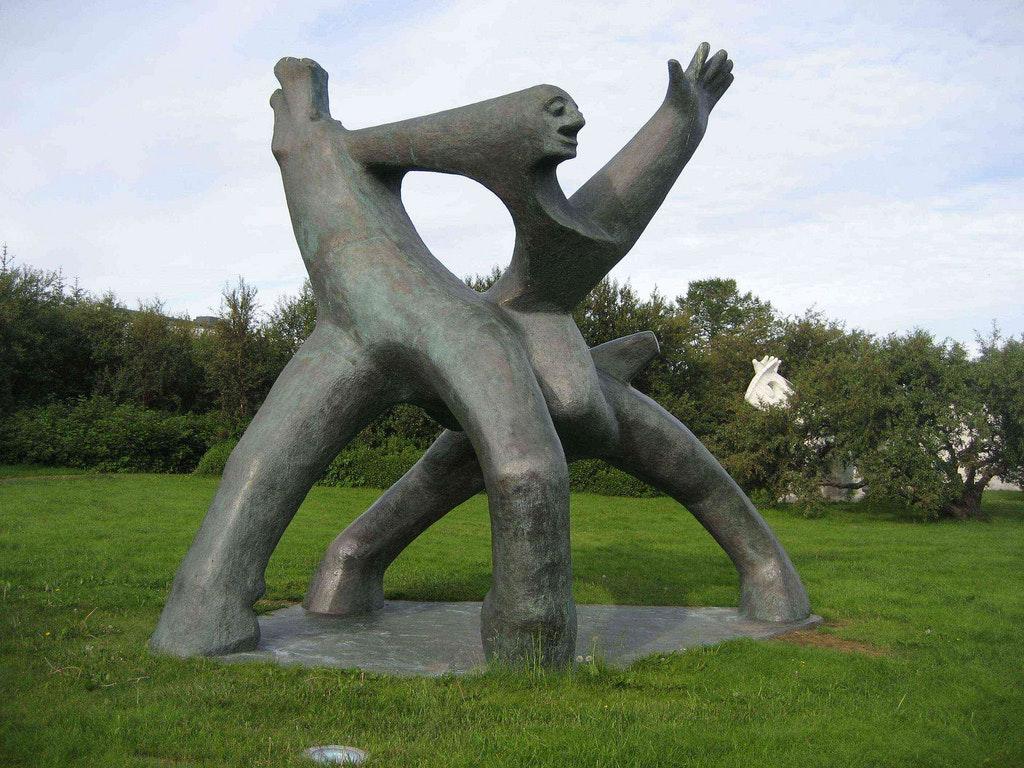 A sculpture by Ásmundur, found in the museum's garden.