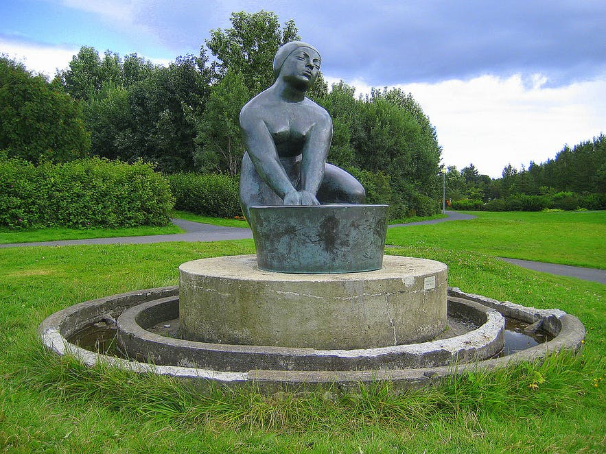 The Washer Woman by Ásmundur.