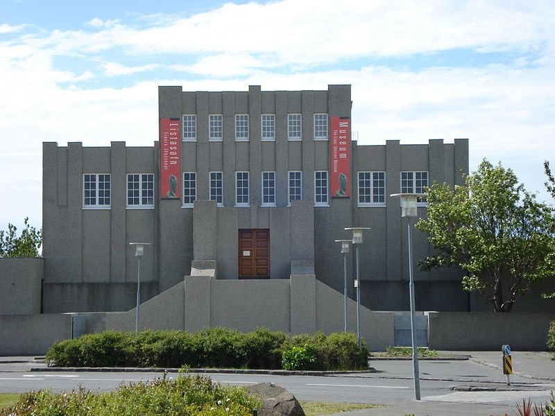 The front of the Einar Jónsson Museum.