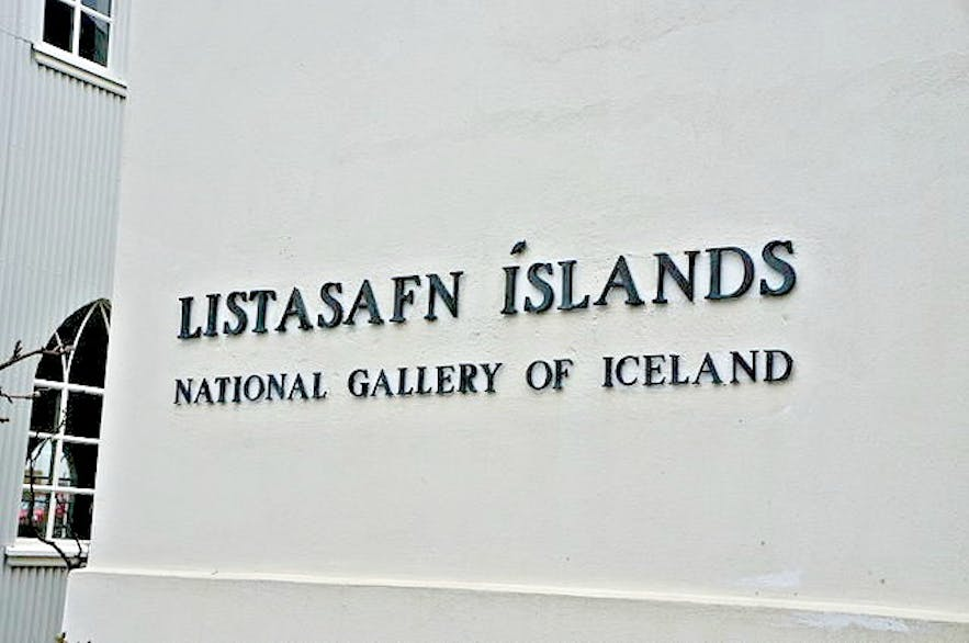 The entrance to the National Gallery of Iceland.