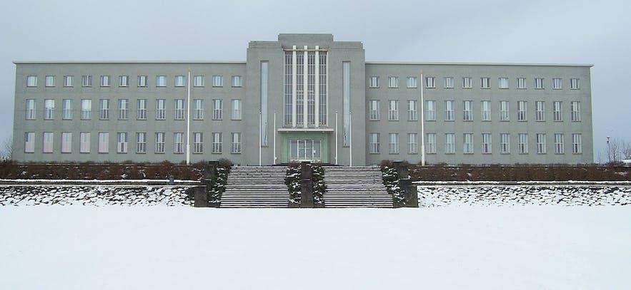 冬季时的冰岛大学