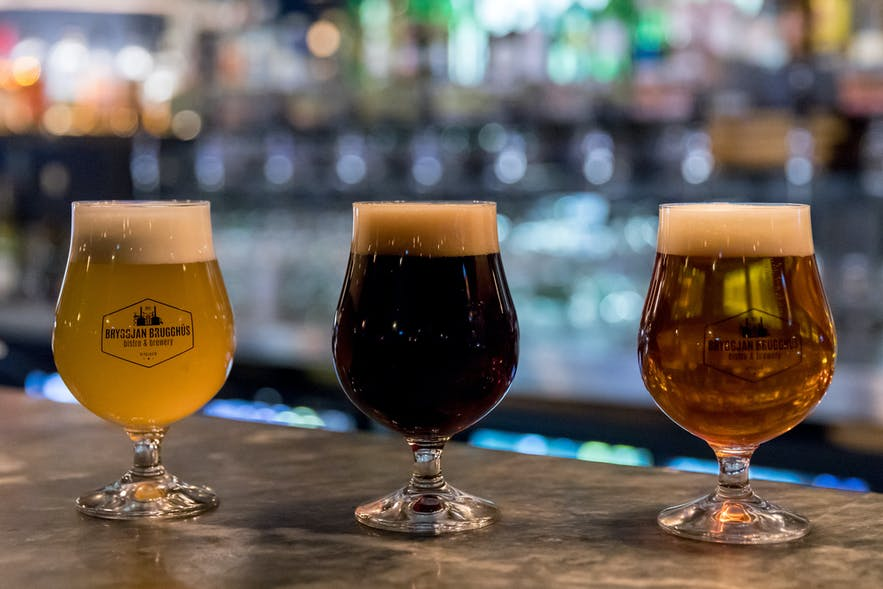 Bryggjan Brugghúsの各種のビール