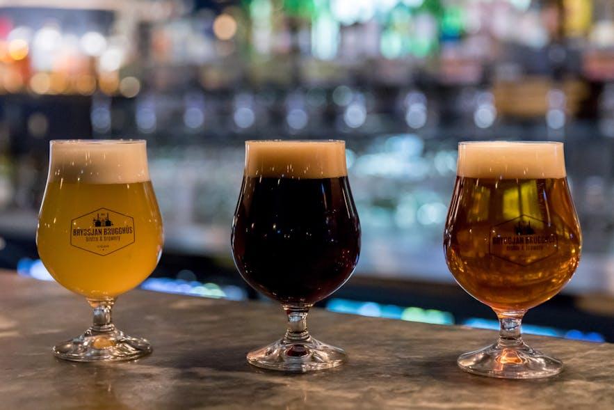 Bières locales à Reykjavík