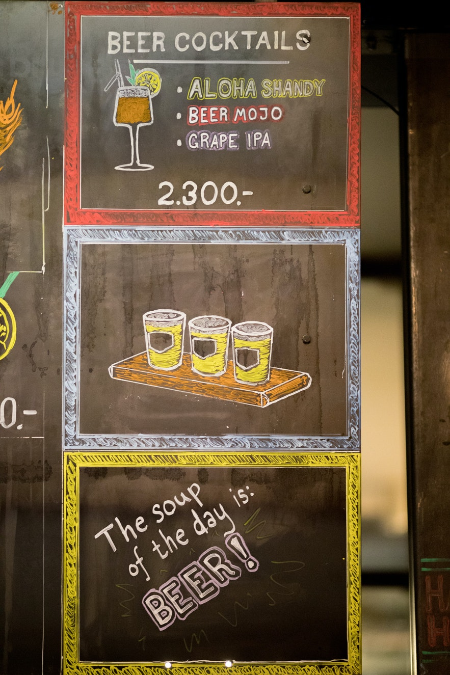 Though beer in Iceland is expensive, there are numerous deals on offer, from 2 for 1 deals to afternoon Happy Hours.