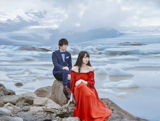 冰岛两日婚纱照旅拍|雷克雅未克出发|南岸杰古沙龙冰河湖跟拍