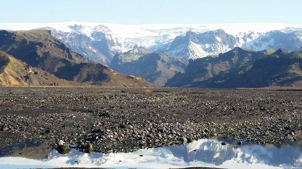 瓦特纳冰川国家公园的熔岩原胜景。