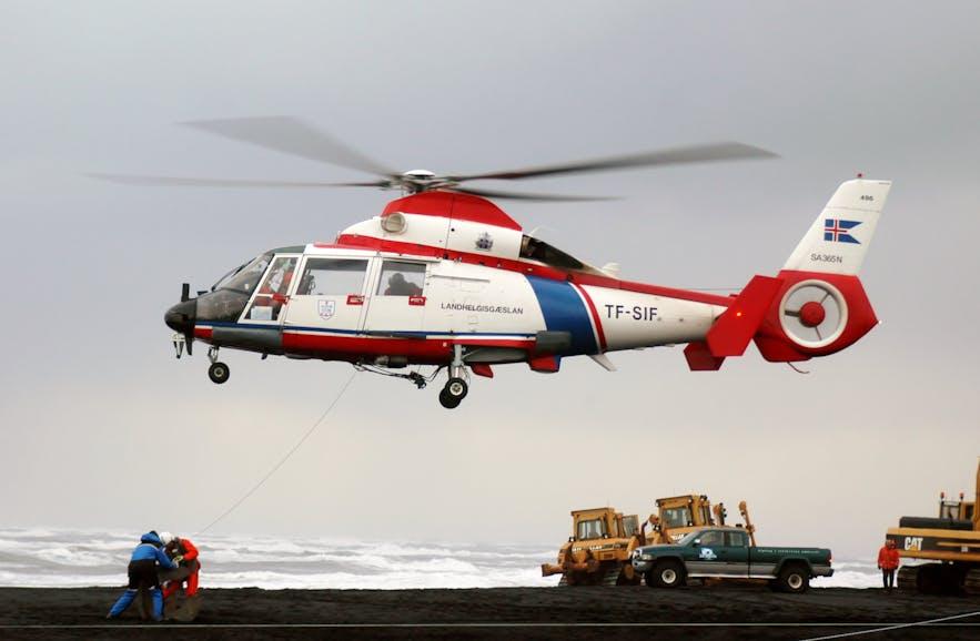 直升机救援在冰岛较为常见