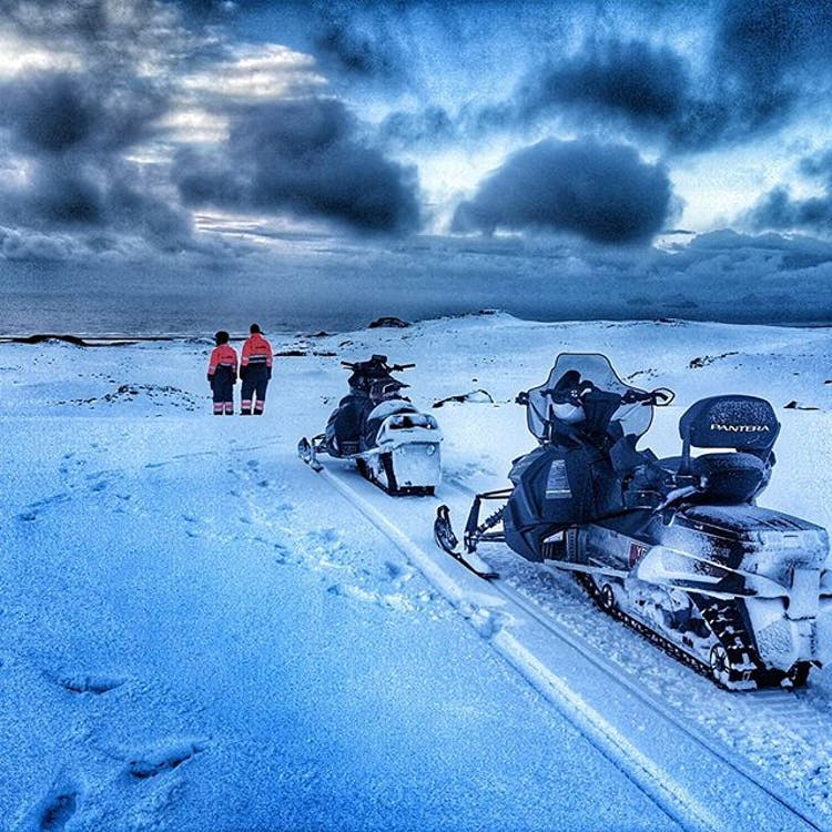 You will be privy to some incredible views during this 6-day snowmobiling adventure.