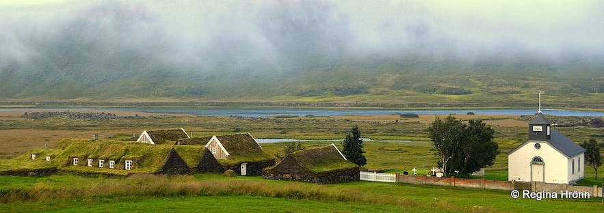 Þverá turf house and Þverárkirkja church N-Iceland