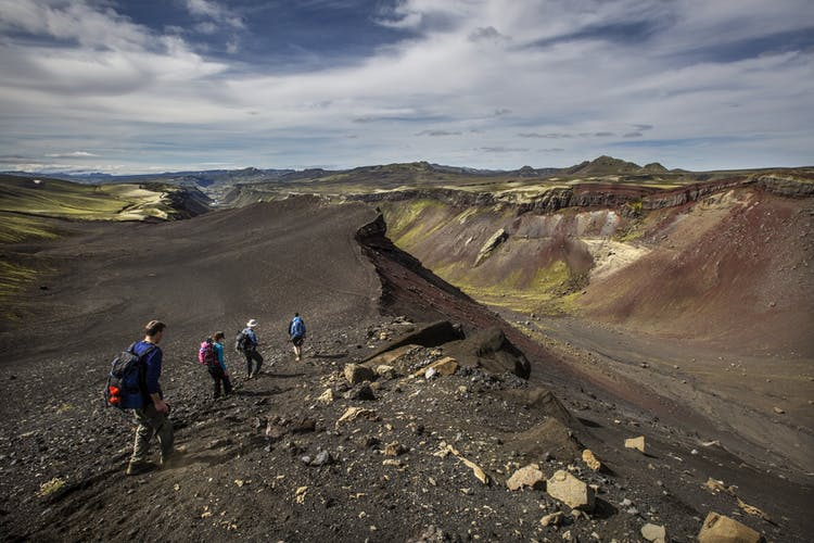 See why Eldgjá in the Icelandic highlands is called the Canyon of Fire.