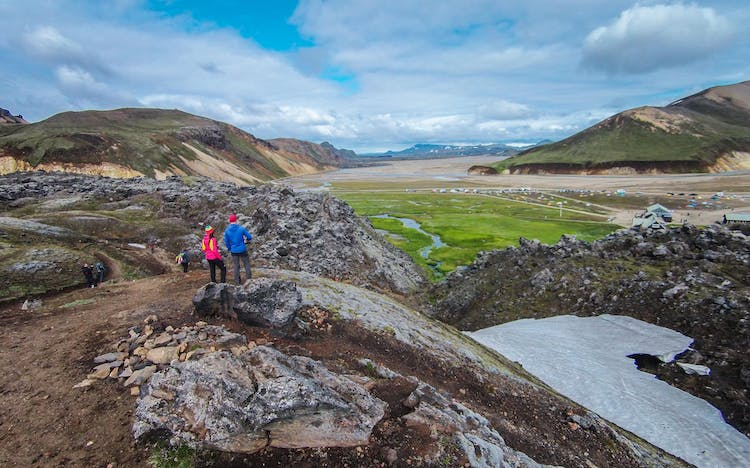 Many contrasting landscapes meet at Landmannalaugar in the Highlands.