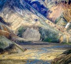 You will see the colourful rhyolitic mountains of Landmannalaugar on a highland super jeep tour.