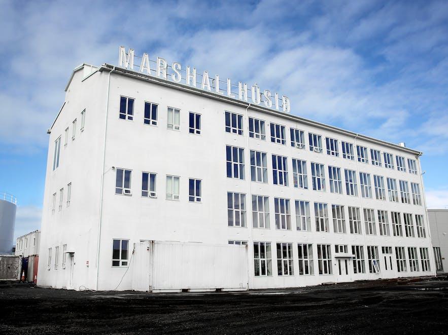 An exterior shot of The Living Art Museum
