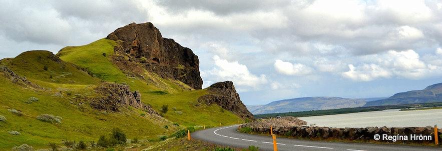 Gaukshöfði cape in Þjórsárdalur valley