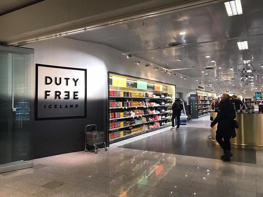 冰岛机场免税店