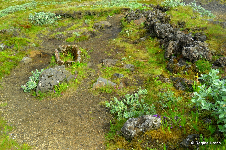 Stöng archaeological site in Þjórsárdalur valley