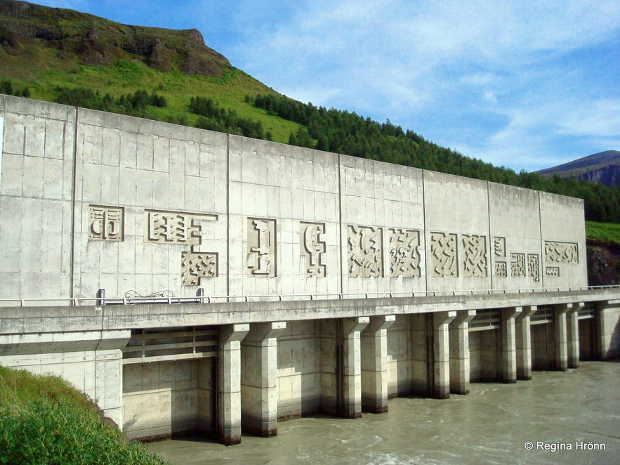 Búrfellsvirkjun hydropower station in Þjórsárdalur valley