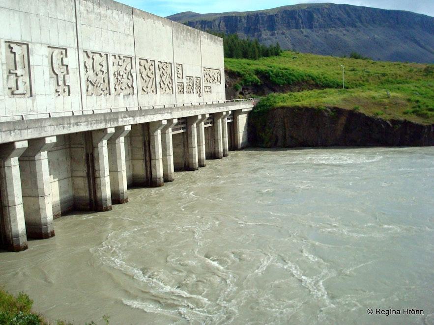 Búrfell hydropower station in Þjórsárdalur valley