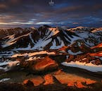 You'll see the spectacular landscapes of Landmannalaugar on your highland super jeep tour.