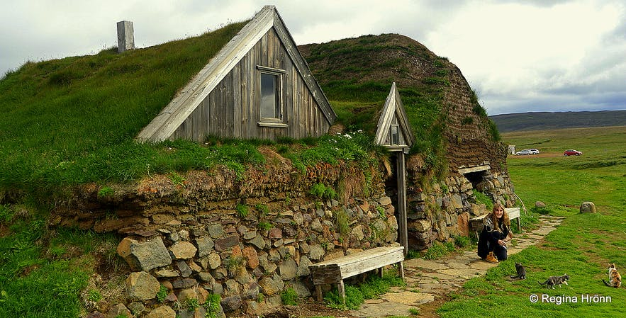 Sænautasel Turf House in the Highland of Iceland