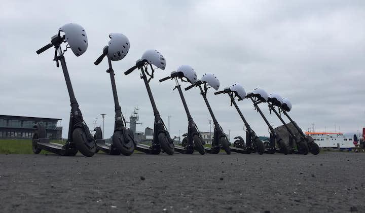 Reykjavík is great to explore via a motorised scooter.