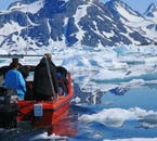 A little boat tour in summer will get your incredibly close to the icebergs in Greenland's icebergs.