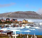 Kusuluk's surrounding waters are filled with icebergs, which break in summer from the many glaciers in the region.