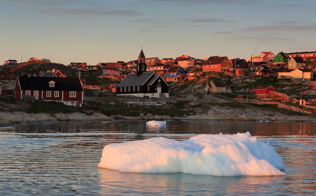 The Greenlandic town of Ilulissat is one of the world's prime whale watching locations in summer.