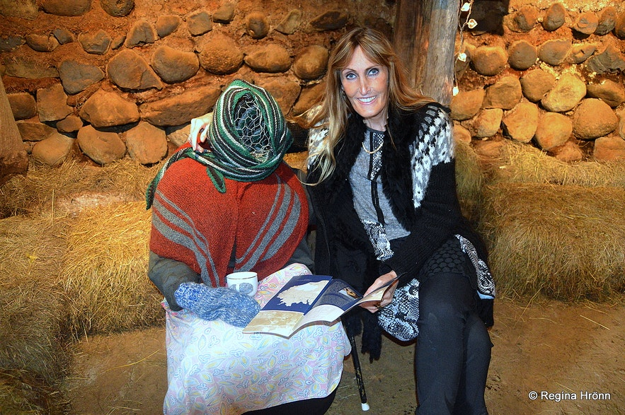Regína Inside Bustarfell museum East-Iceland