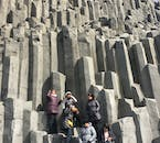The incredible basalt rock formations at Reynisfjara Beach, by the village Vík on the South Coast of Iceland.