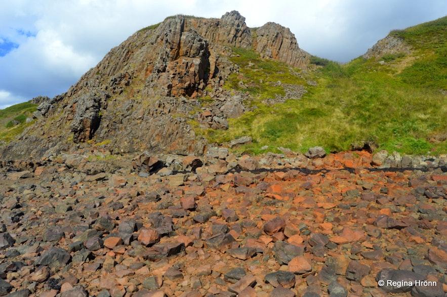 Bjartmarssteinn Rock in Iceland