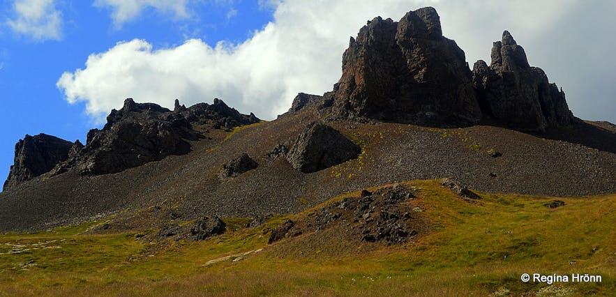 Borgarland peninsula - volcanic plugs